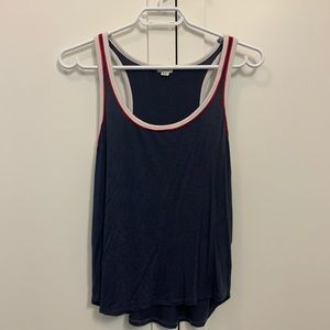 💙garage tank top, blue white and red